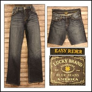 Easy Rider Mid Rise Dark Wash Jean by Lucky Brand